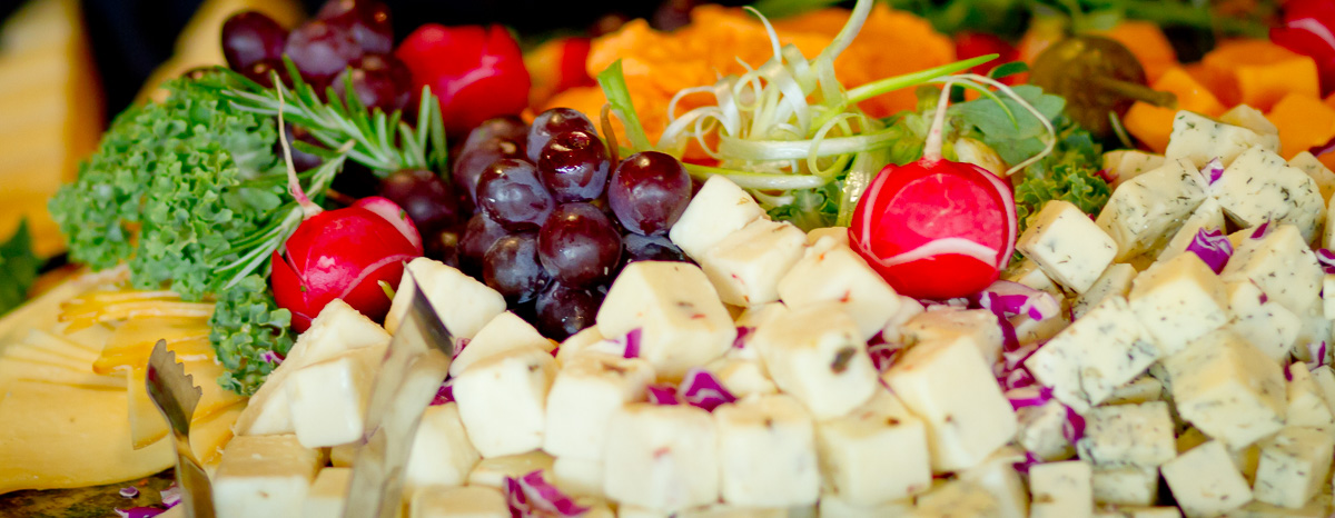 Catering Cheese & Fruit Plate