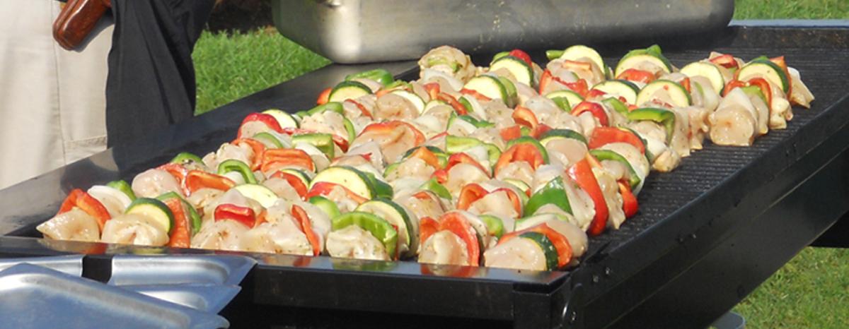 Grilled Shrimp Skewers Catering