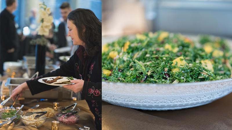 Women-Getting-Food-From-Buffet