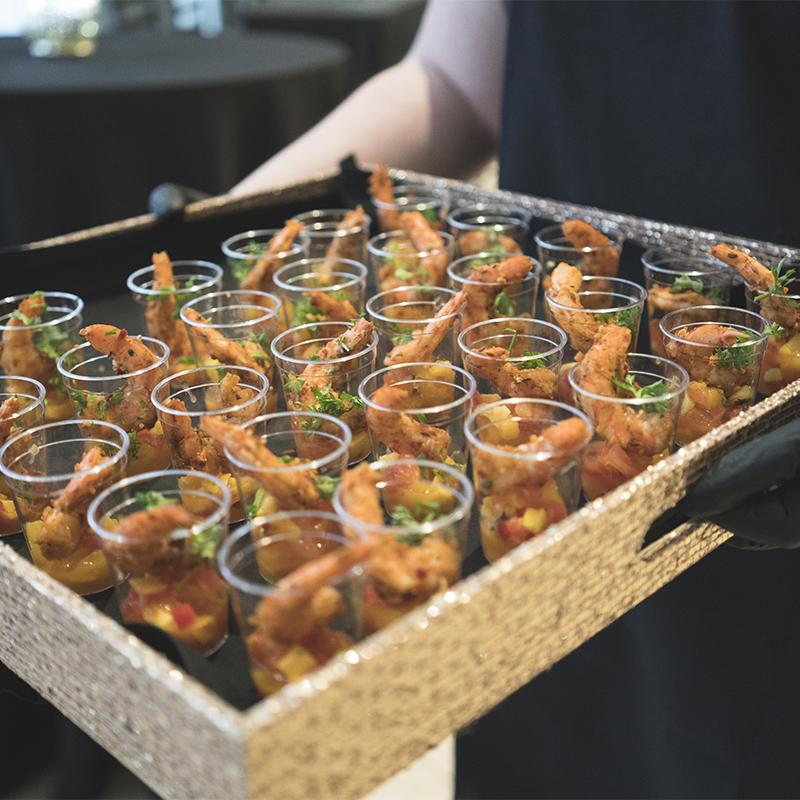 Server-Passing-Shrimp-Appetizer