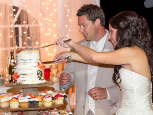 Wedding Reception Cake Cutting - Grand Rapids