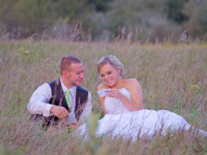 Wedding Reception Photography - in a field