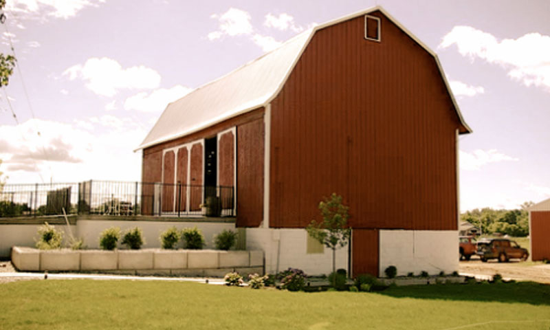 Outside view of The Centennial Barn