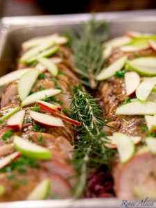 Buffet Catering Roast Turkey Apples
