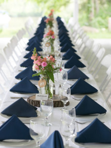 Wedding Catering Table Settings