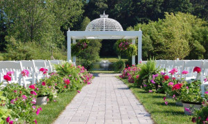 Outdoor wedding at the Apple Blossom Gardens