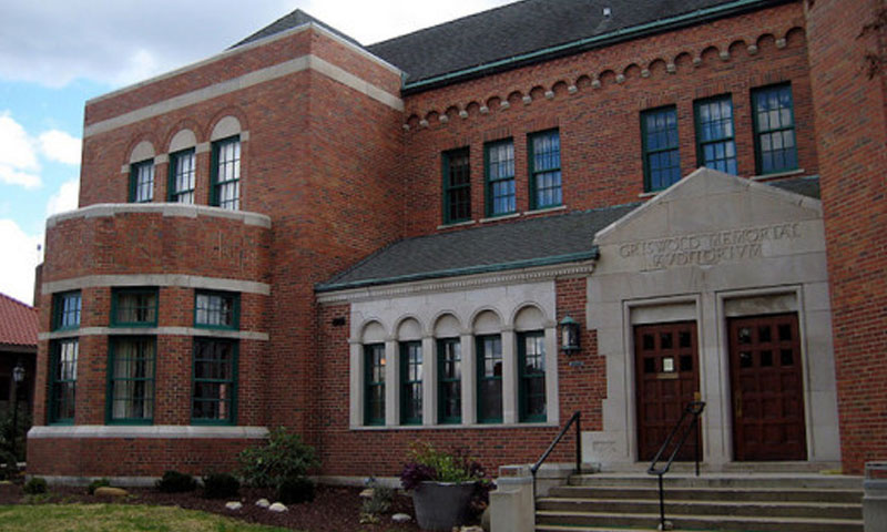 Outside view of the Griswold Auditorium