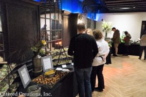 Chef Janell with clients at the Spring Tasting Event