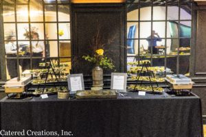 Vegan table at the spring Tasting Event